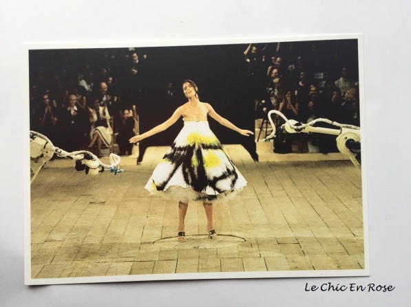 Postcard of another of McQueen's beautiful dresses