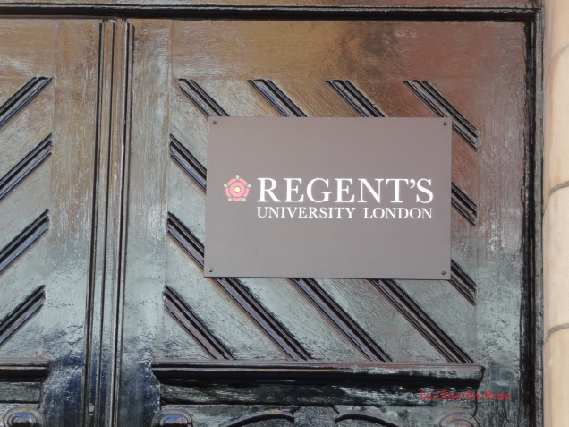 The building is now occupied by Regent's University London though appeared locked up when we visited.