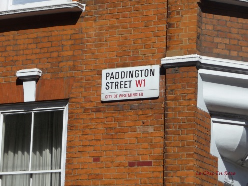 Paddington Street sign