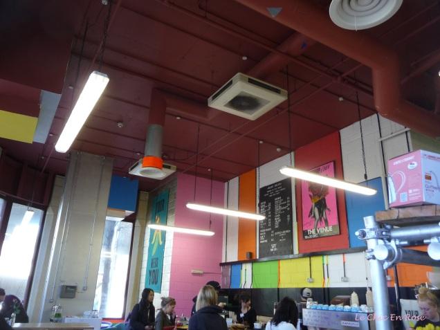 Arty interior Beany Green Cafe, Little Venice/Paddington Central