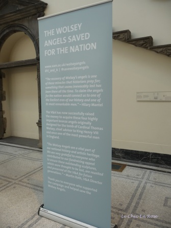 "Explanation of the ""Wolsey Angels"" - rare statues saved and preserved by the V&A"