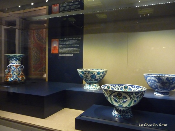 Pottery in the Middle Eastern section