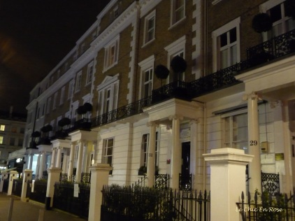 Illuminated terraces Thurloe Street South Kensington