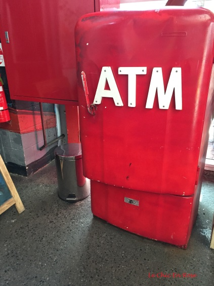 The ATM machine - yes it does work!