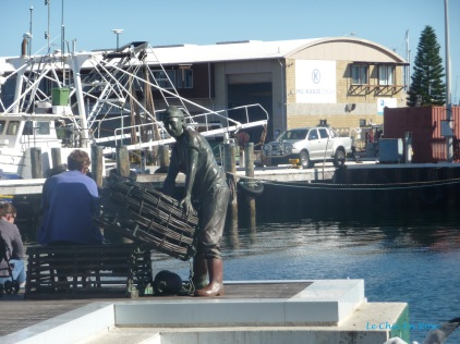 Fisherman's Statue down by the boardwalk at Fremantle