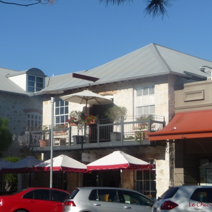 Pretty houses with a French feel in the centre of Fremantle