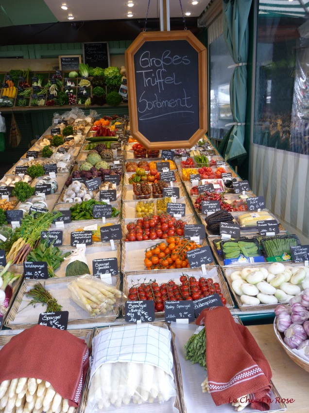 Some of the wonderful produce available at the Viktualienmarkt near the Marienplatz