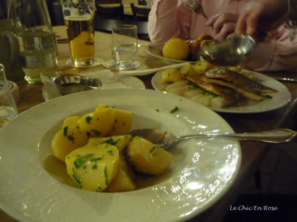 Potato accompaniments to the main dishes at Augustiner am Dom