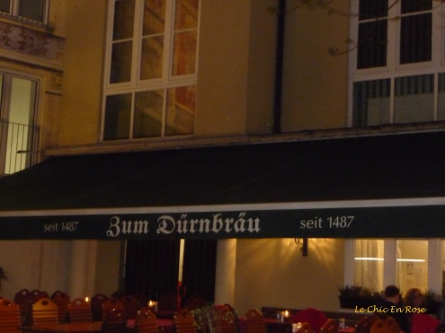 Facade of Zum Duernbraeu established in 1487