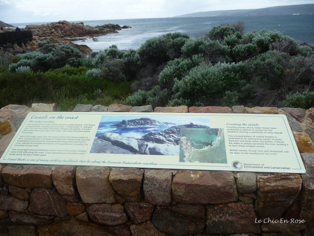 Explanation of the formation of Canal Rocks in Western Australia