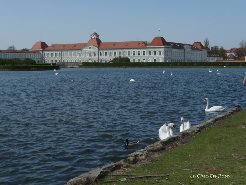 Lake in front of Nymphenburg Palace