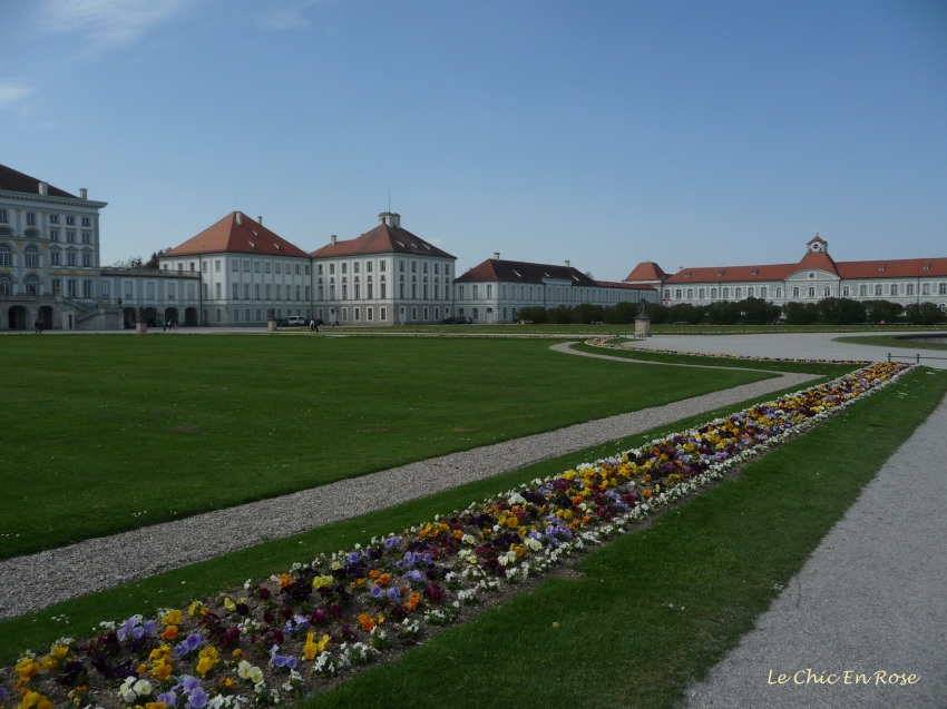 Flower beds in the Nymphenburg grounds