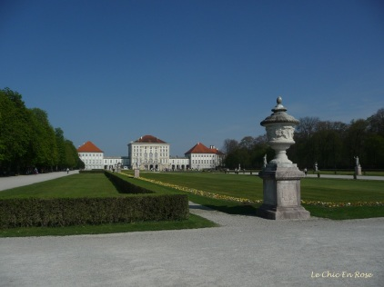 View back up to the palace from the grounds