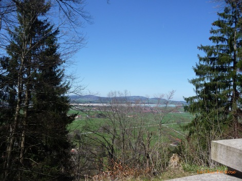View back to Fuessen from Neuschwanstein