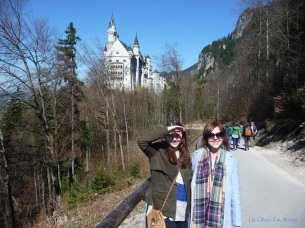 Walking trail leading from Neuschwanstein up to the Marienbruecke