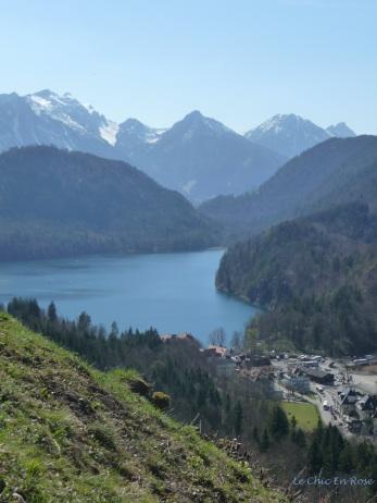 Looking back down to Hohenschwangau