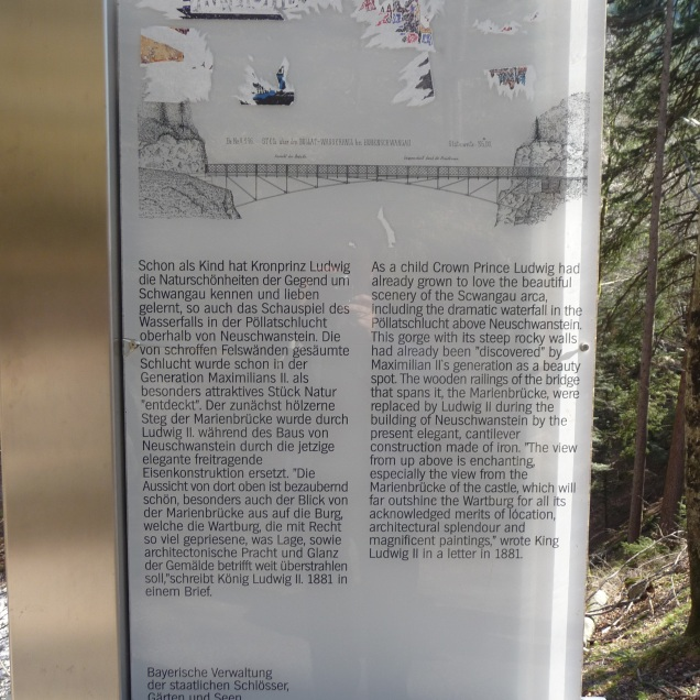 History of the Marienbruecke on the information plaque