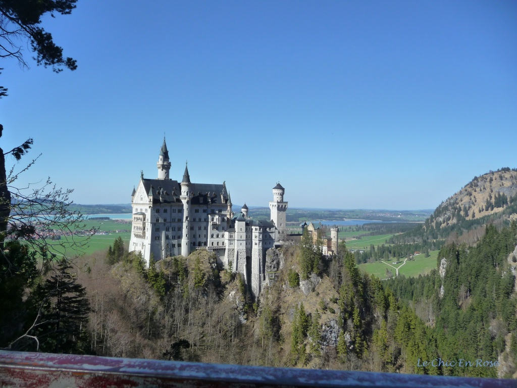 View of Neuschwanstein taken from the Marienbruecke