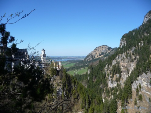 View down the Pollat Gorge from the Marienbruecke