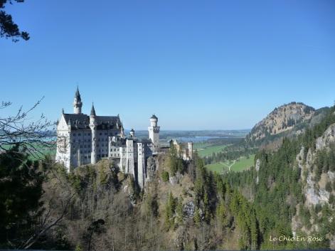 The beautiful Neuschwanstein Castle in the Bavarian Alps