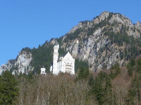 View up to Neuschwanstein Castle