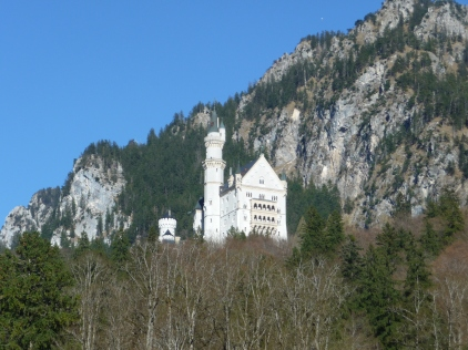 View Of Neuschwanstein from our afternoon tea spot - Hotel Mueller Beer Garden