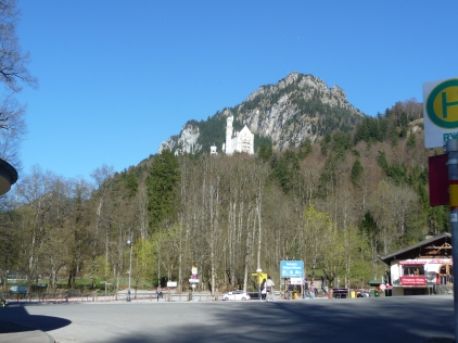 Last lingering look at Neuschwanstein perched above us