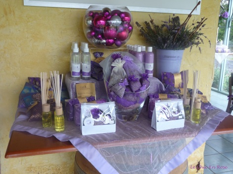 Some of the range of products on offer at Cape Lavender