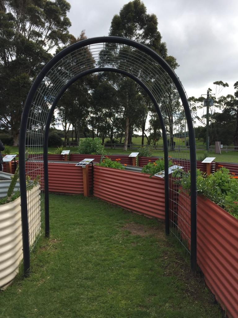 Entrance to the Cullen Wines Biodynamic Spiral Garden Tour