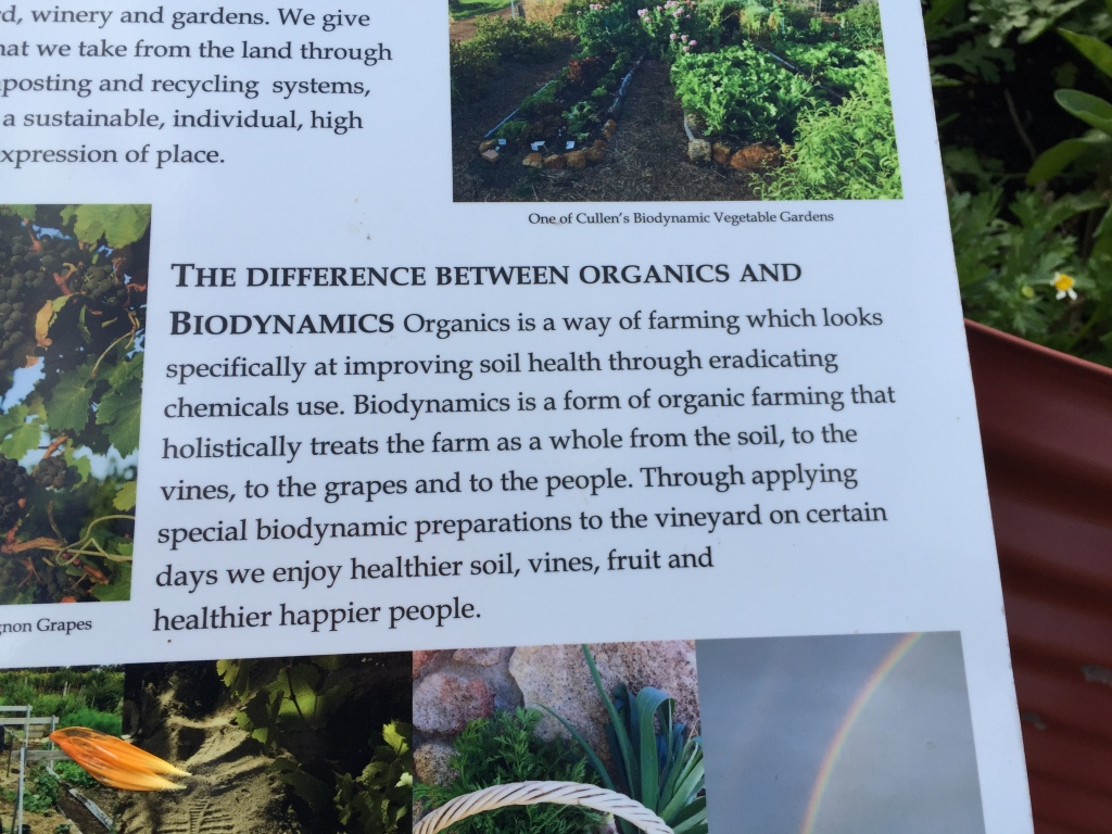 Explanation of biodynamic farming at Cullen Wines