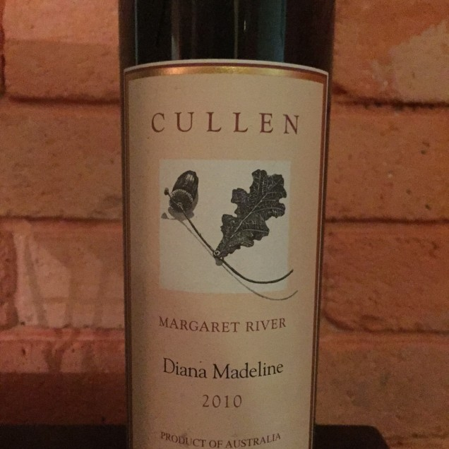 "One of our bottles of the celebrated ""Diana Madeline"" Cabernet Sauvignon"