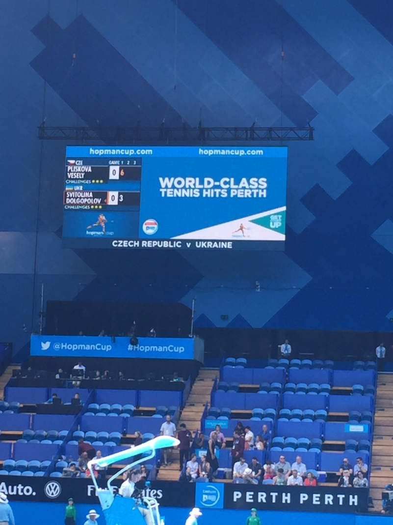 World class tennis at the Hopman Cup at Perth Arena