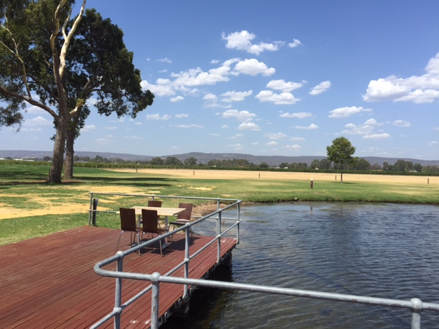 Oakover Grounds - lake and views to the Perth Hills