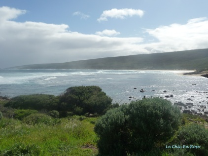 View as you come down the hill towards the bay at Yallingup