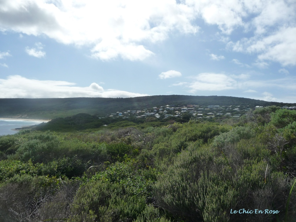 The settlement of Yallingup on the ridge overlooking the Indian Ocean