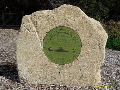 Memorial to the surfing tradition at Yallingup Beach Front and also recognition for the local Wardandi People