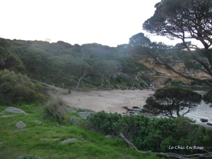 The beach stretches out round Bunker Bay inlet
