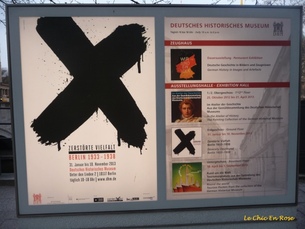 Information poster for the Deutsches Historisches Museum
