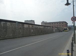 One of the remaining sections of the Berlin Wall left as a grim reminder of Berlin's divided past