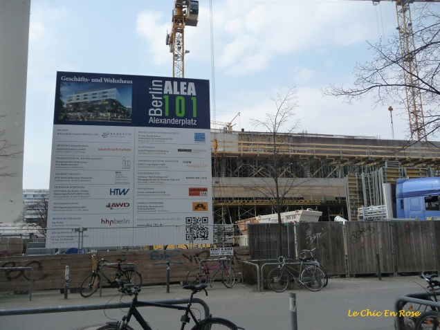 New apartments under construction at Alexanderplatz