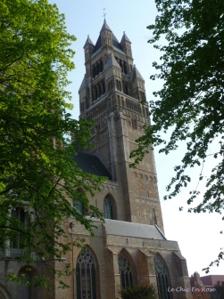 Bruges - spire among the trees
