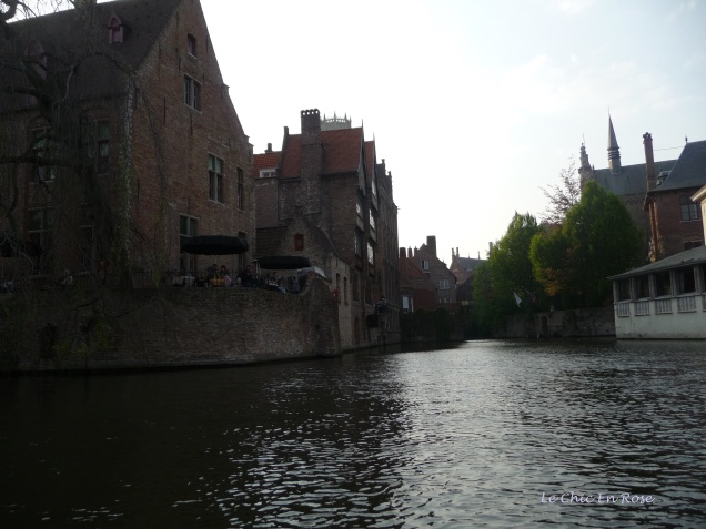 Old houses line the canals