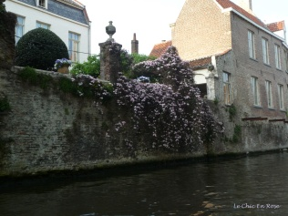 Spring flowers by the canal Bruges