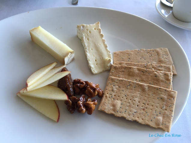 Cheese dessert platter