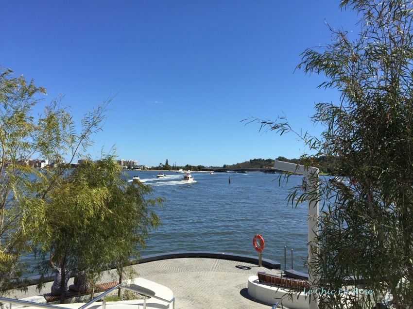 View of the Swan river at the entrance to Elizabeth Quay