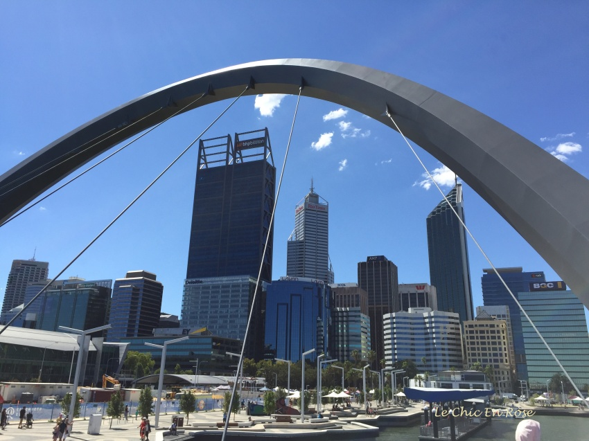 Perth City Centre from the bridge at Elizabeth Quay