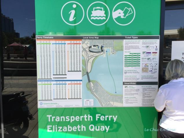 Elizabeth Quay Ferry Details