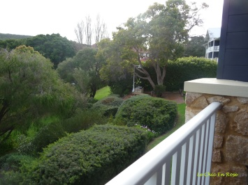 View of gardens from the balcony