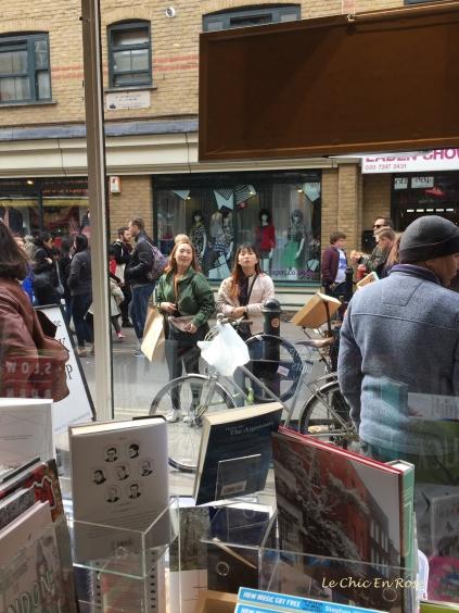 View from the window Brick Lane Bookshop