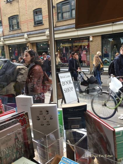 Street scene Brick Lane Bookshop